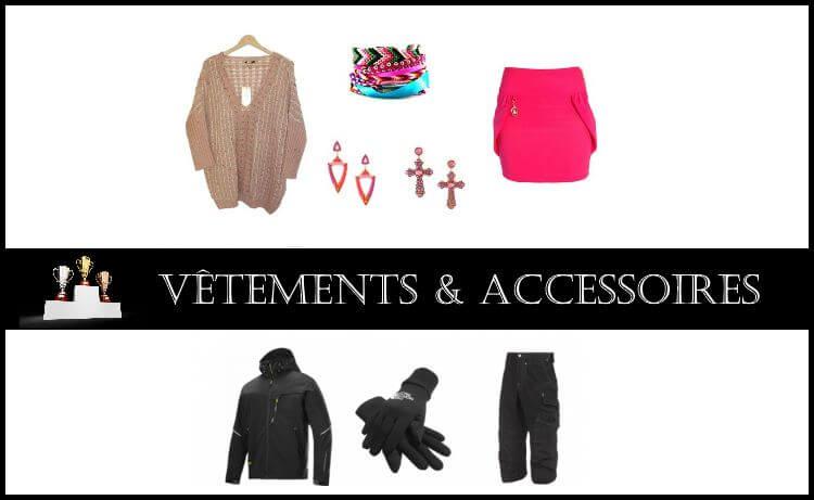 Comparatif : Vêtements & Accessoires